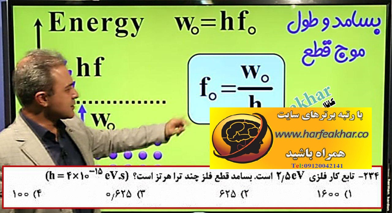 پکیج فوق حرفه ای فیزیک پیش دانشگاهی 2 حرف آخر